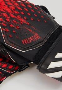 adidas Performance - UNISEX - Goalkeeping gloves - black/actred - 3