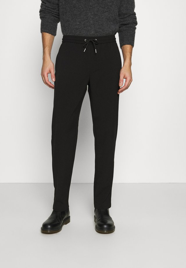 WITH DRAWSTRING - Pantalon classique - black