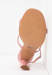 Topshop Wide Fit - WIDE FIT RIVER STRAPPY BLOCK - High heeled sandals - nude - 6