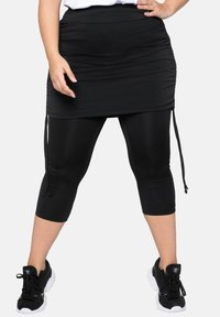 Sheego - Leggings - Trousers - black - 0