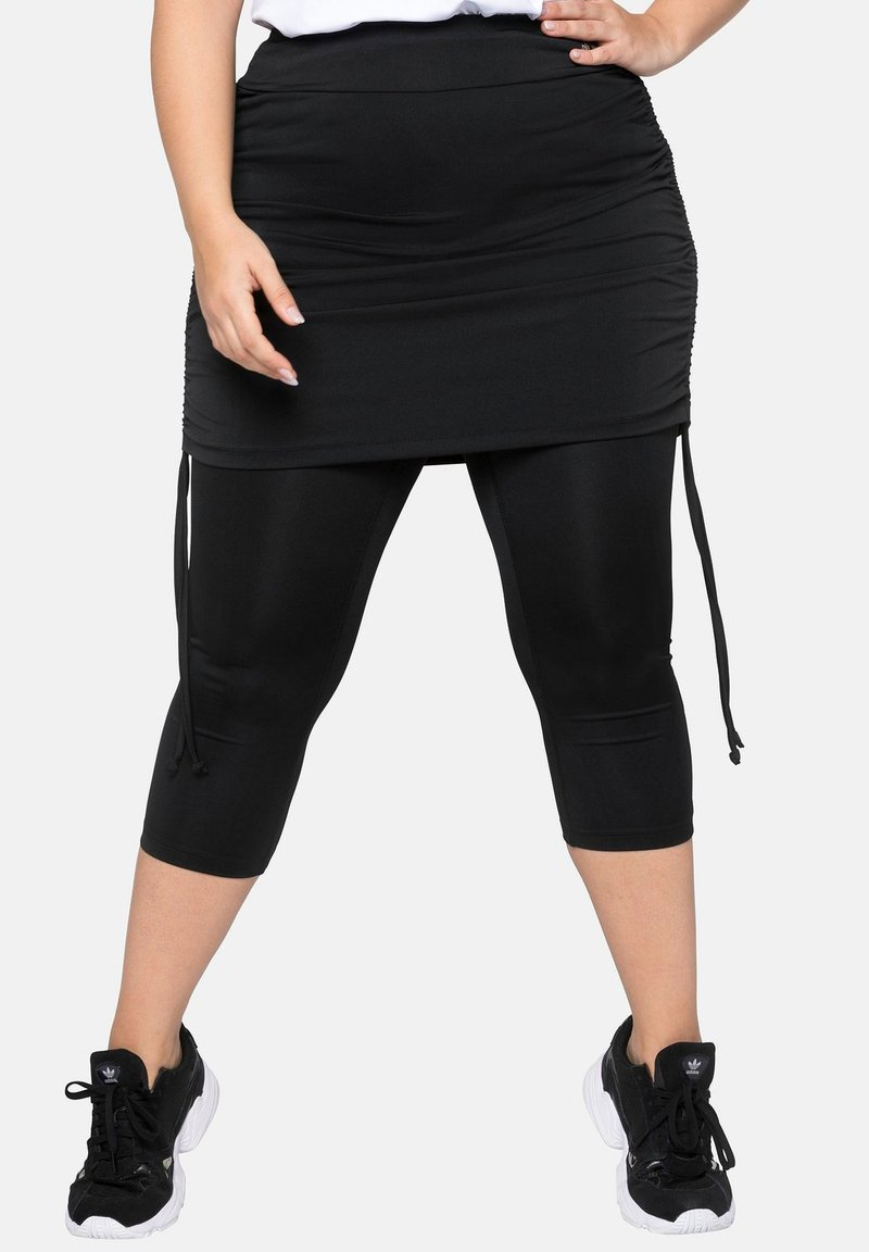 Sheego - Leggings - Trousers - black