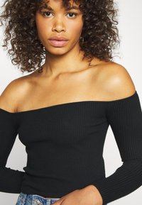 Missguided Tall - SQUARE NECK CROPPED JUMPER - Jumper - black - 4