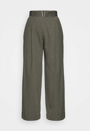 WIDE LEG - Trousers - sage