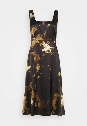 SLEEVELESS DAY DRESS - Day dress - black/ brown