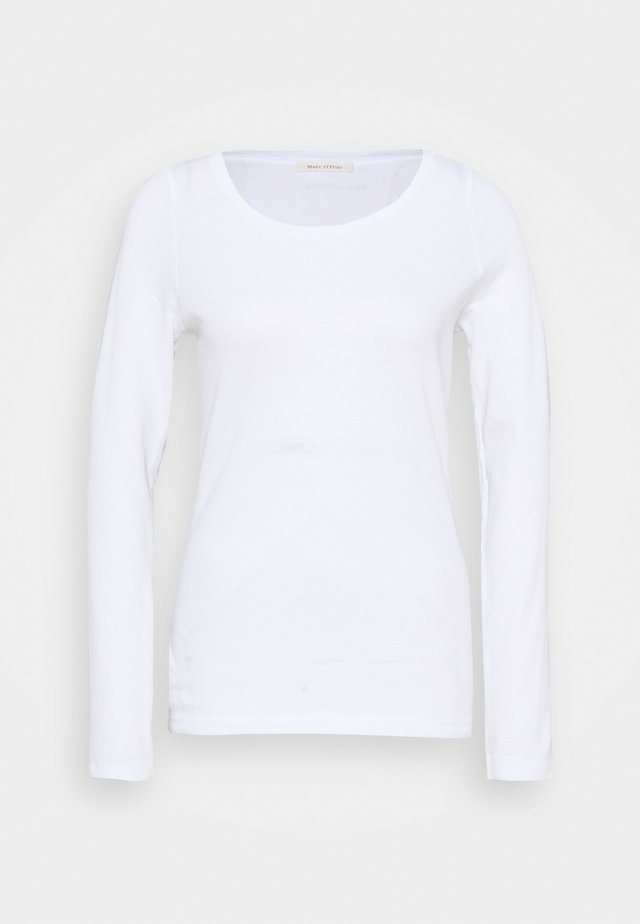 LONG SLEEVE ROUND NECK - Top sdlouhým rukávem - white