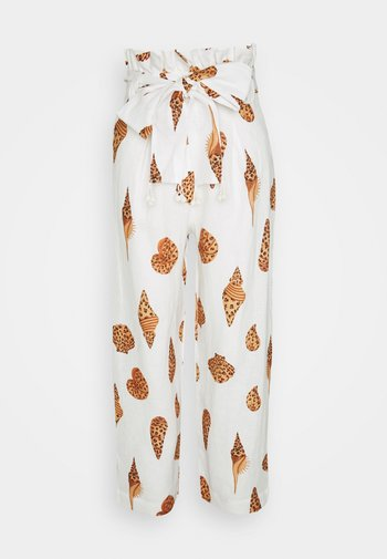 LEOPARD SHELL PAPER BAG PANTS