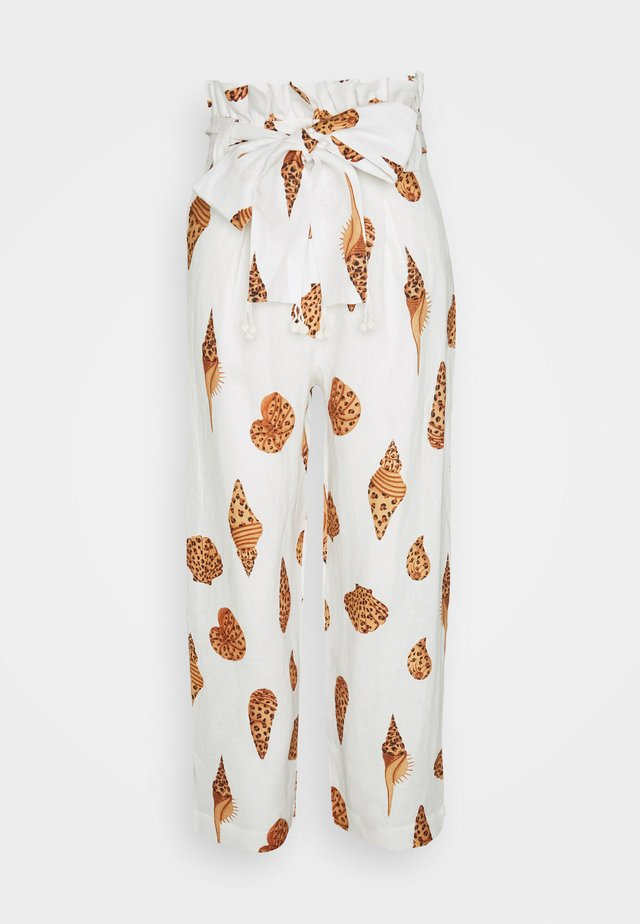LEOPARD SHELL PAPER BAG PANTS - Trousers - multi
