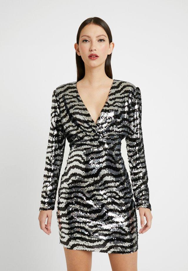 ZEBRA SEQUIN DRESS - Cocktail dress / Party dress - silver