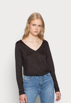 VINOEL V NECK - Long sleeved top - black
