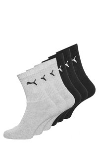 6 PACK - Sports socks - black/grey