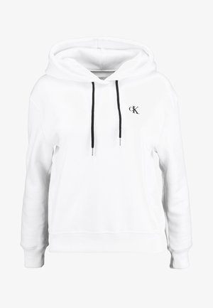 EMBROIDERY HOODIE - Mikina s kapucí - bright white