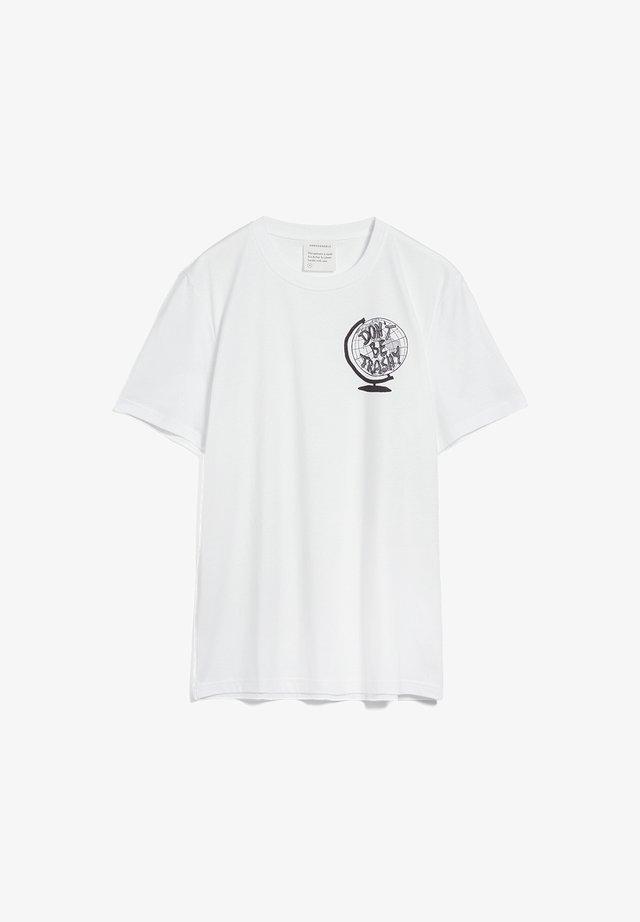 AADO DON'T BE TRASHY - Print T-shirt - white