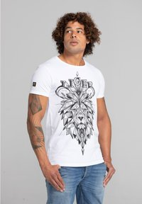Liger - LIMITED TO 360 PIECES - LUCKY DUBZ - ORIGAMI - Print T-shirt - white - 3