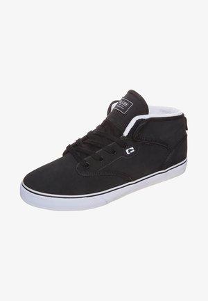 MOTLEY MID - Skateboardové boty - black/white