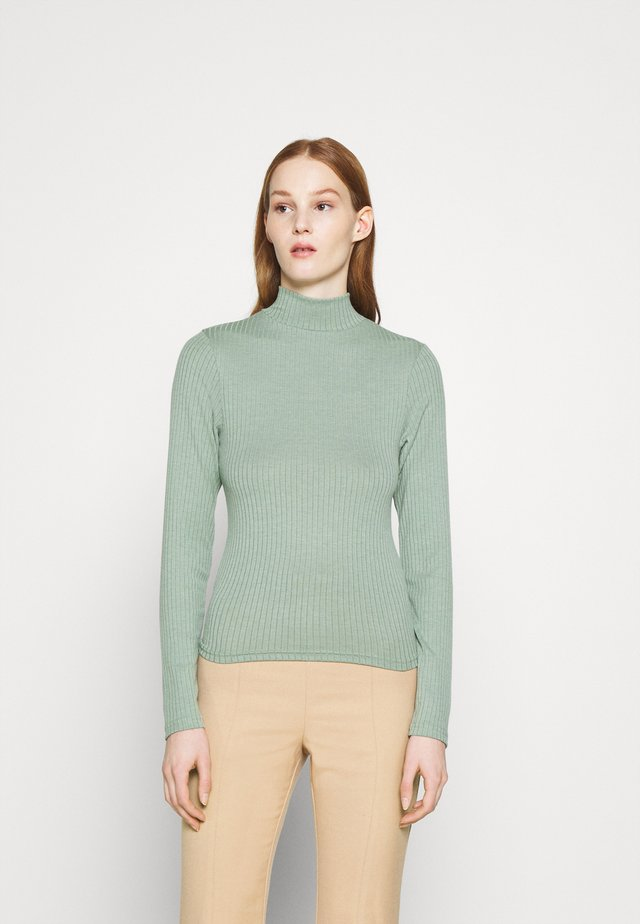 MILA MOCK NECK LONG SLEEVE - Pitkähihainen paita - mountain sage marle