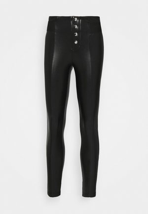 ONLZABO BUTTON - Leggings - Trousers - black
