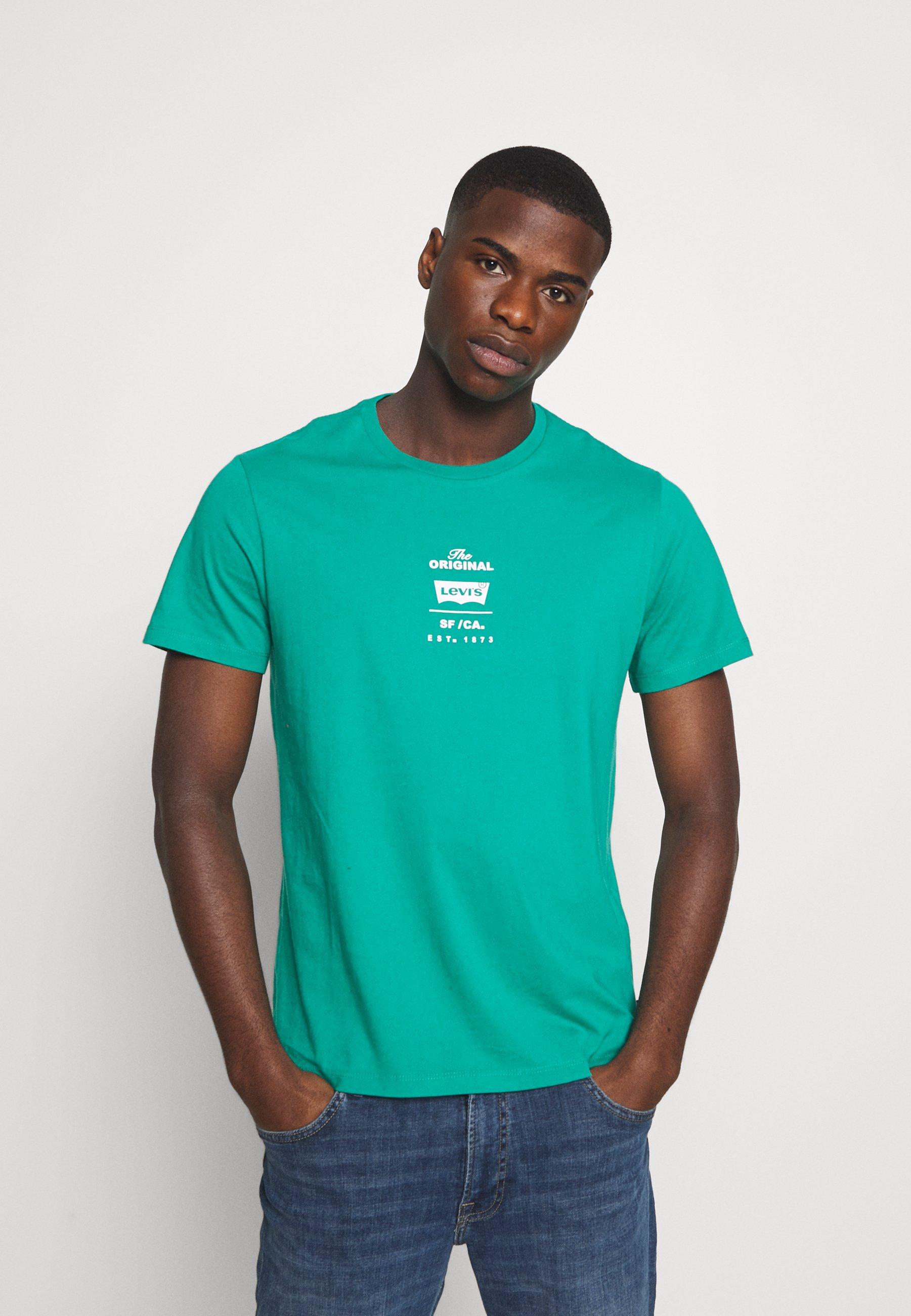 Men HOUSEMARK GRAPHIC TEE - Print T-shirt - green