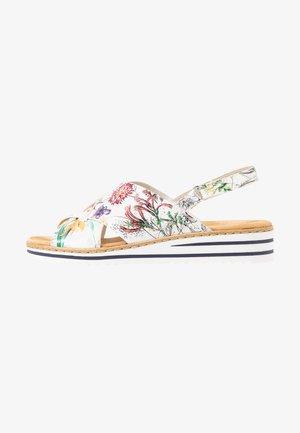 Sandalen met sleehak - ice/multicolor
