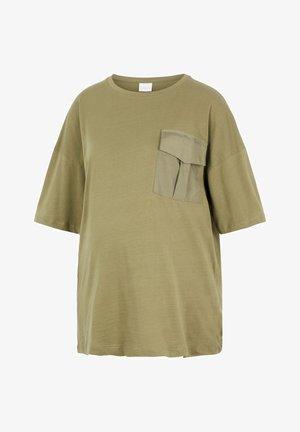 UMSTANDS-OVERSIZE - Print T-shirt - nutria