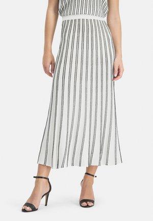 MINOWA - A-line skirt - white/black
