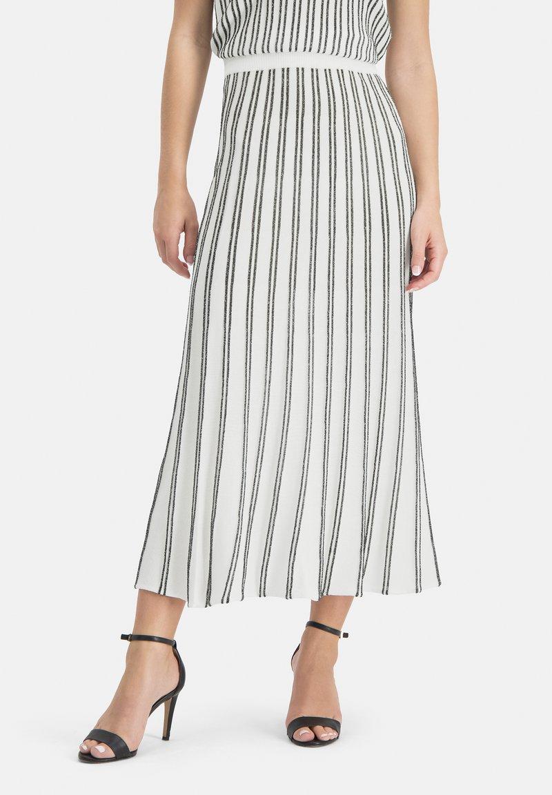 Nicowa - MINOWA - A-line skirt - white/black