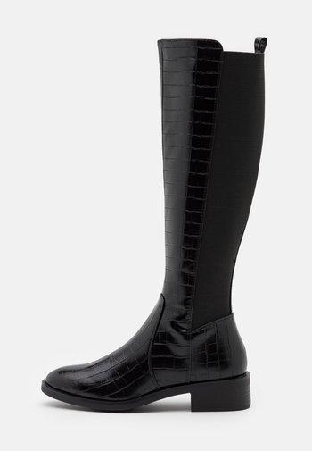 PLAIN STRETCH BACK  - Vysoká obuv - black