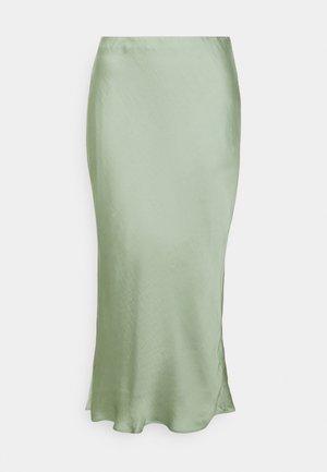 BIAS MIDI SLIP - A-line skirt - sage bouquet