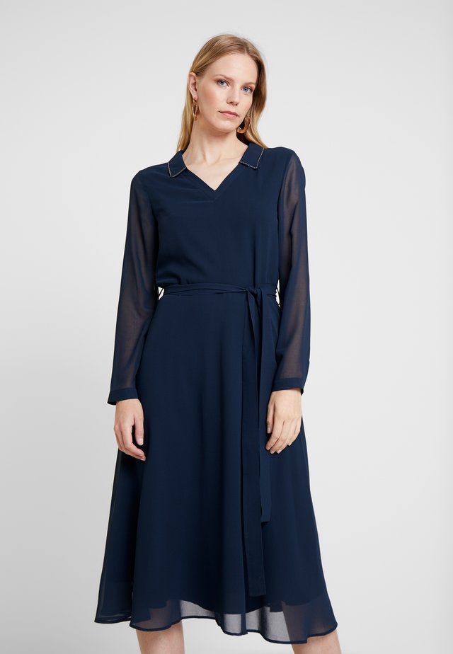 SHIRT COLLAR DRESS - Cocktailjurk - navy