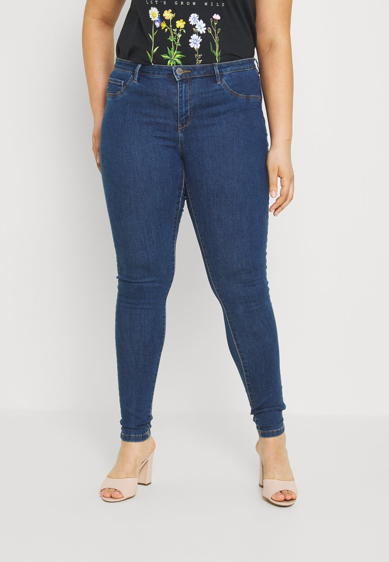 ONLY Carmakoma - CARFLORIA  - Jeans Skinny Fit - medium blue denim