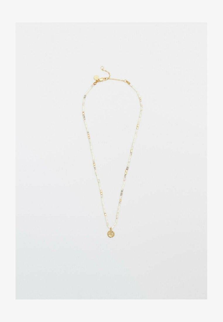 Massimo Dutti - MIT WEISSEN STEINEN  - Necklace - gold