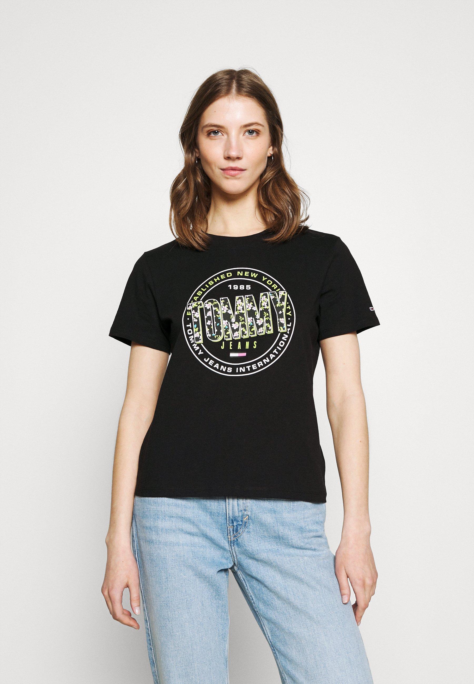 Damen SLIM FLORAL TEE - T-Shirt print
