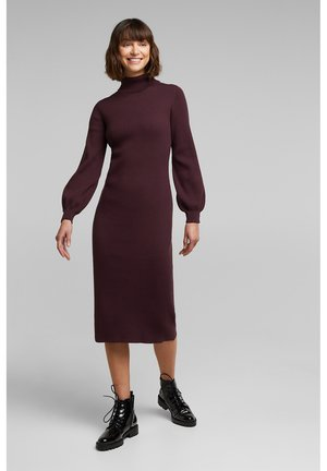 PUFF - Shift dress - aubergine