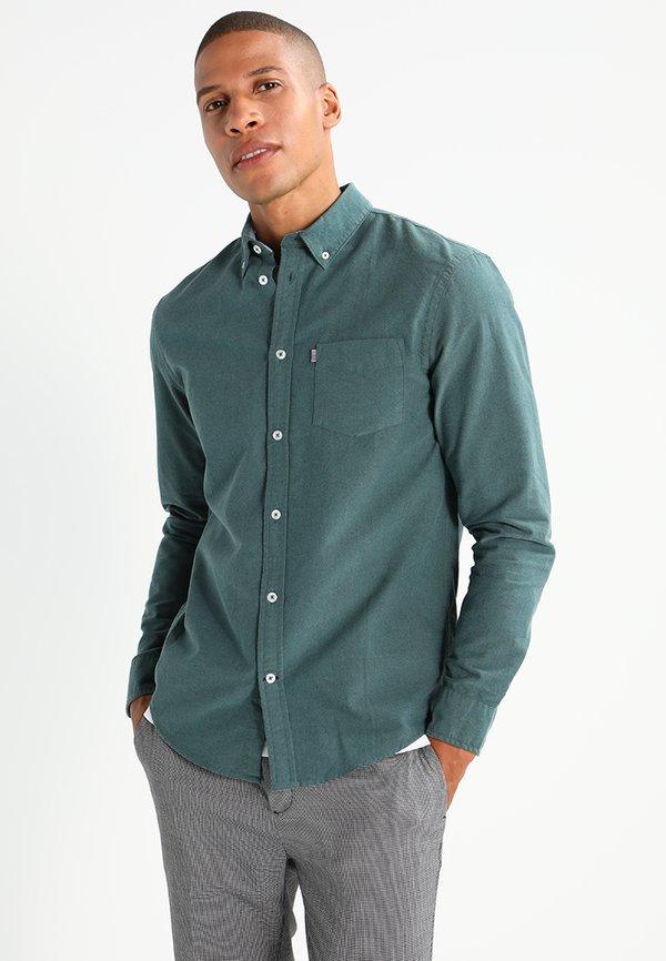 Pier One Koszula - green/zielony Odzież Męska VBAE