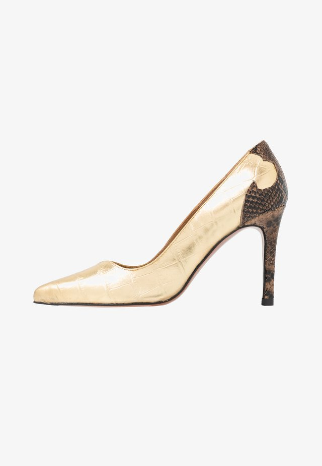 High heels - gold/oro
