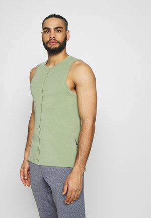 DRY TANK YOGA - Camiseta de deporte - oil green/black