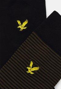 Lyle & Scott - HAROLD 4 PACK - Socks - argyle/dark olive/black - 1
