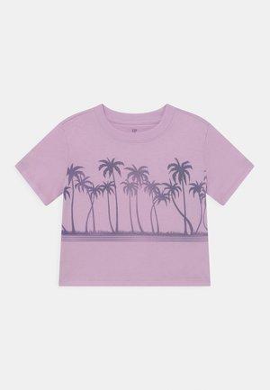 GIRLS BOXY - T-shirts print - light iris