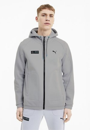 Zip-up hoodie - team silver