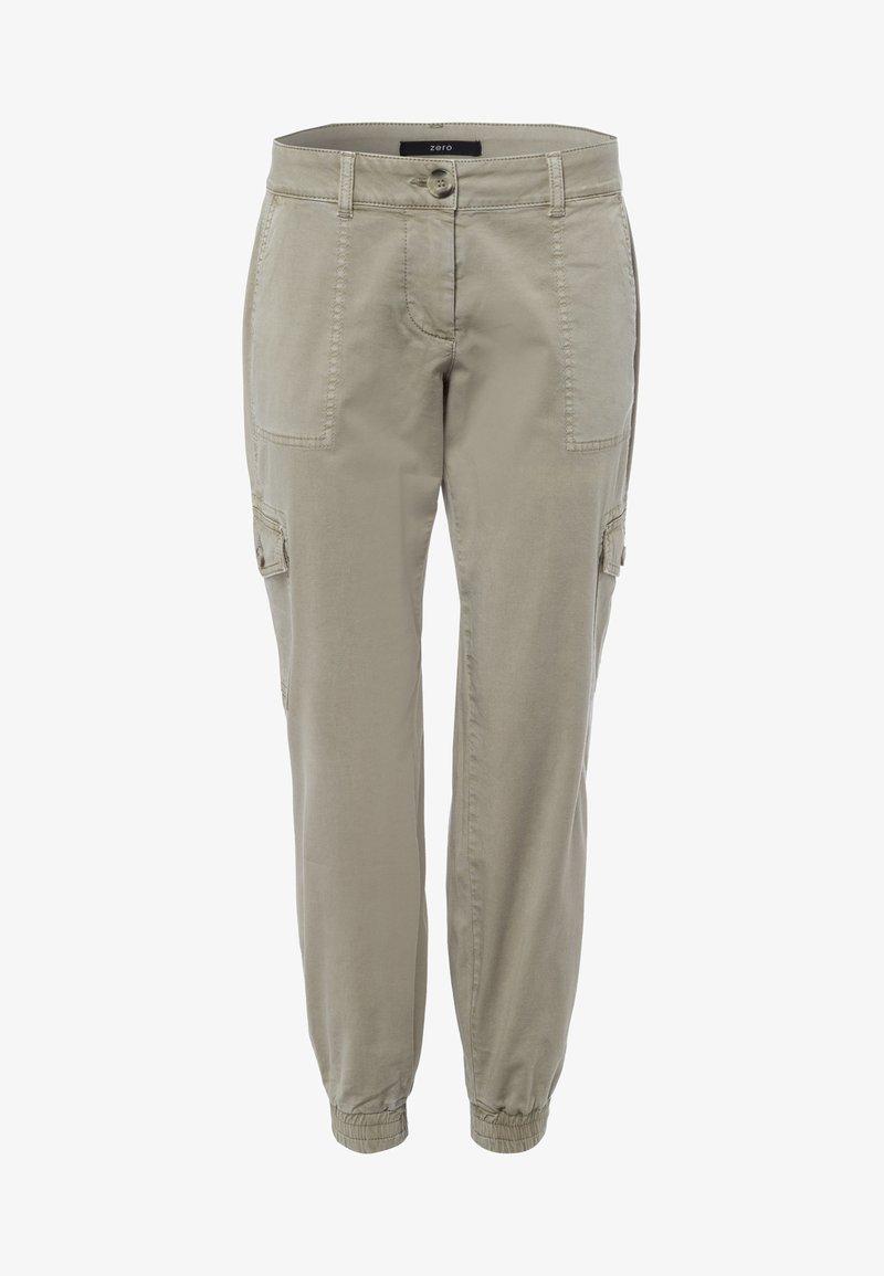zero - MIT KLAPPENTASCHEN 28 INCH - Cargo trousers - sage
