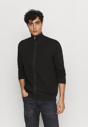SLHBERG FULL ZIP CARDIGAN - Strikjakke /Cardigans - black
