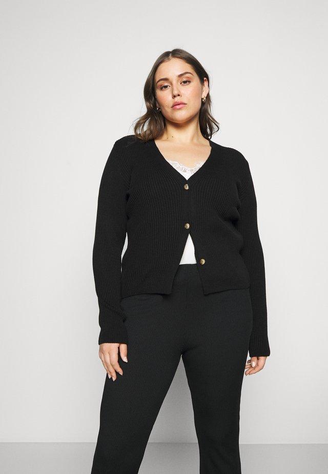 SKINNY CARDIGAN - Vest - black