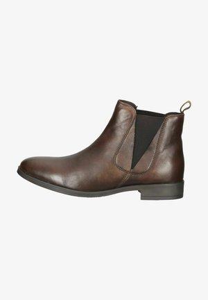 Ankelstøvler - dark brown leather 3520