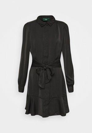 Shirt dress - jet black