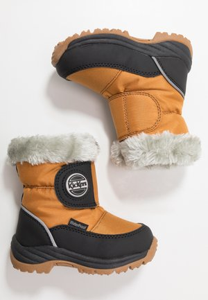 JUMPSNOW WPF - Winter boots - black/camel