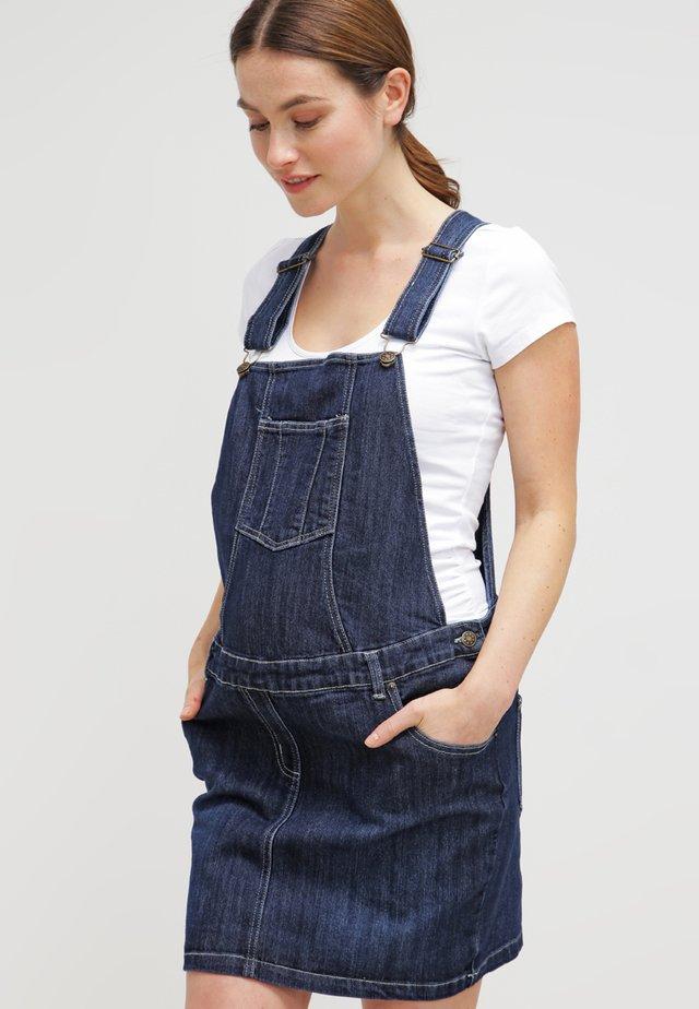DUNGAREE  SKIRT - Denimové šaty - indigo