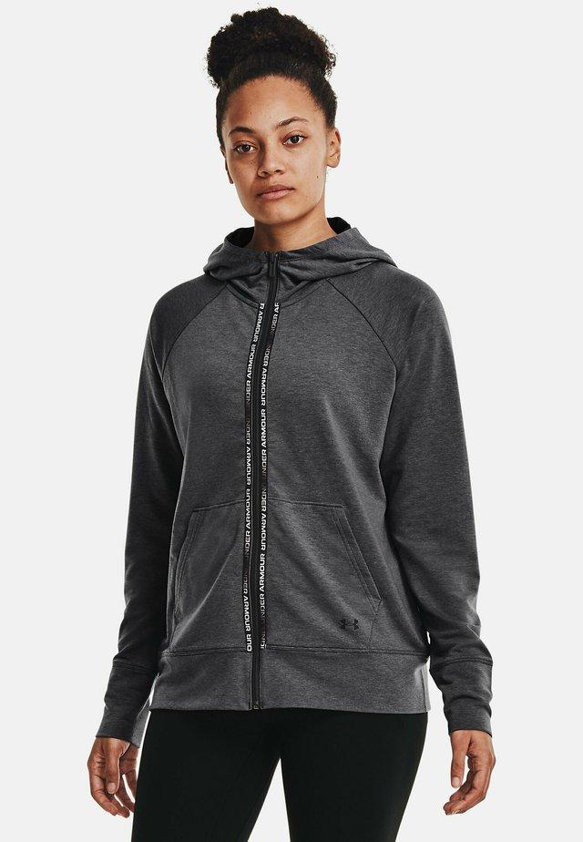 RIVAL TERRY  - Zip-up sweatshirt - jet gray