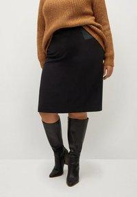 Violeta by Mango - CHOP - A-line skirt - black - 0