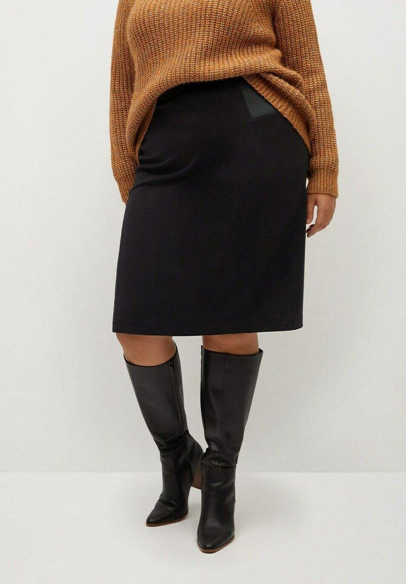 Violeta by Mango - CHOP - A-line skirt - black