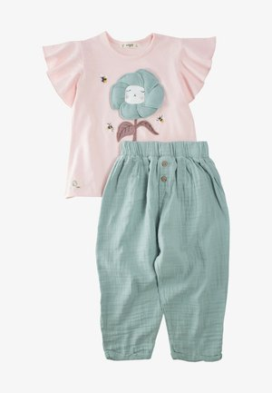 SET - Kalhoty - light pink
