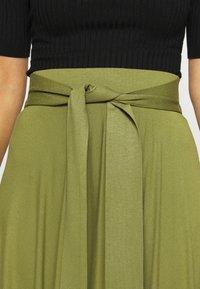 Esprit - A-line skirt - olive - 4